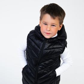 Жилет для мальчика, цвет чёрный, рост 110 см