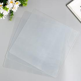 Лист пластика с закругленными углами прозрачный 30х30 см (набор 3шт) 0,5 мм