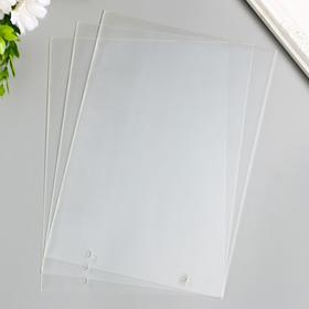 Пластик прозрачный горизонтальный 2 отверстия А5 (набор 3шт) 0,3 мм