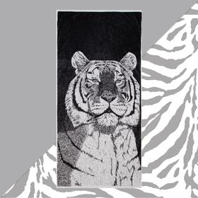 Полотенце махровое Этель «Тигр» 70х130см, 100% хлопок, 420гр/м2