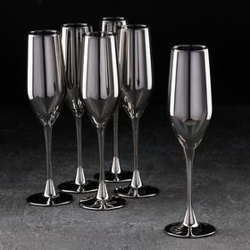 Набор бокалов для шампанского «Селест, Сияющий графит», 160 мл, 6 шт