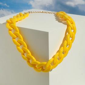 """Колье """"Цепь"""" диагональ, цвет жёлтый, 45см"""