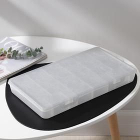 Органайзер для хранения мелочей с разделителями, 35,5x21х4,2 см, цвет белый перламутр