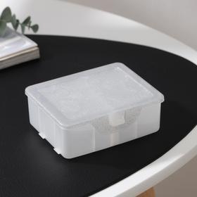 Органайзер для хранения мелочей с разделителями, 11×9,5×4,2 см, цвет белый перламутр