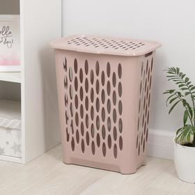 Корзина для белья Raindrop,37л, 42,2×29×51,5 см, цвет нежно-розовый