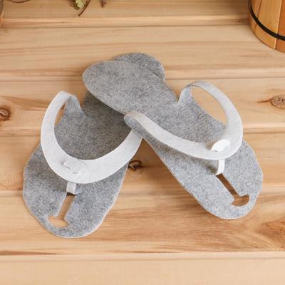 Тапочки-сланцы для бани и сауны войлочные