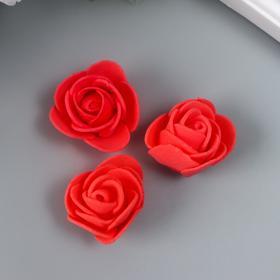 Набор декоративных роз 1,6 см, 3 шт, розовый