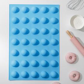 Форма для выпечки «Шарики», 56×36,5×3 см, 35 ячеек (d=5 см), цвет МИКС