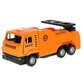 Машина металлическая «KAMAZ 65201 эвакуатор», 12 см, открываются двери, подвижные детали, инерция
