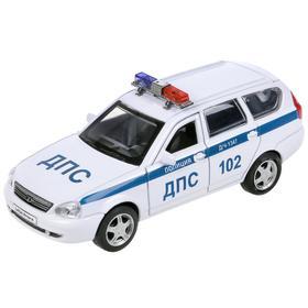 Машина металлическая» LADA Priora полиция», 12 см, открываются двери и багажник, инерция, цвет белый