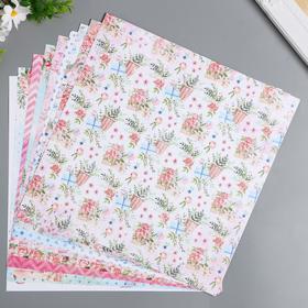 """Набор бумаги для скрапбукинга """"Летняя прогулка"""" 11 листов 30,5х30,5 см"""