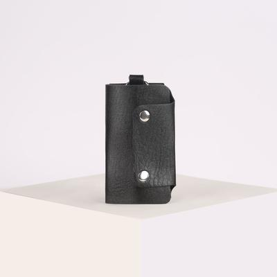 Ключница, 7 карабинов на кнопках, черный