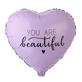 """Шар фольгированный 18"""" сердце YOU ARE BEAUTIFUL"""