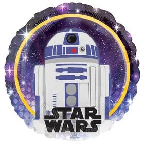 """Шар фольгированный 18"""" круг """"Звездные Войны Дроид R2-D2"""""""