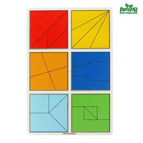 Развивающие игры из дерева. Сложи квадрат 2 уровень - легкий
