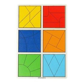 Развивающие игры из дерева. Сложи квадрат 3 уровень - усложненный