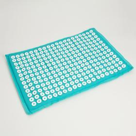 Ипликатор -коврик  450*670 бирюзовый в бархатном чехле