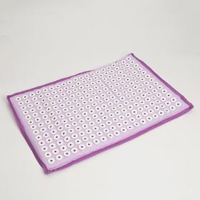 Ипликатор -коврик  450*670 сиреневый в бархатном чехле