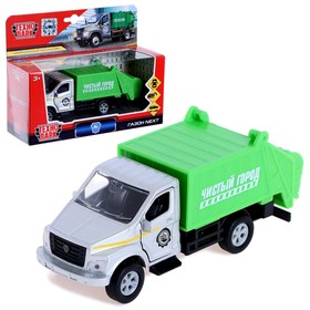 Машина металлическая «ГАЗон NEXT мусоровоз», 15,5 см, открываются двери, подвижные детали, инерция