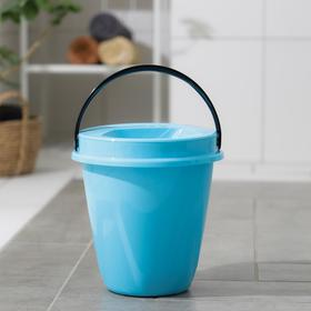 Ведро с крышкой «Лайт», 5 л, цвет голубой