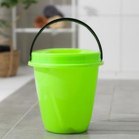 Ведро с крышкой «Лайт», 5 л, цвет зелёный