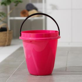 Ведро «Лайт», 8 л, цвет розовый