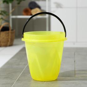 Ведро «Лайт», 8 л, цвет прозрачно-жёлтый