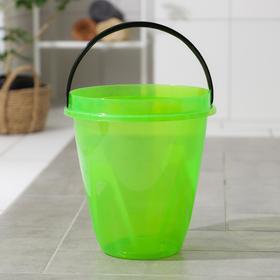 Ведро «Лайт», 8 л, цвет прозрачно-зелёный