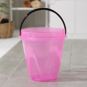 Ведро «Лайт», 8 л, цвет прозрачно-розовый