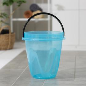 Ведро «Лайт», 10 л, цвет прозрачно-голубой