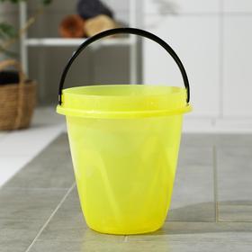 Ведро «Лайт», 10 л, цвет прозрачно-жёлтый