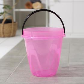 Ведро «Лайт», 10 л, цвет прозрачно-розовый