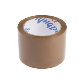 Лента клейкая TUNDRA, коричневая, 45 мкм, 72 мм х 66 м