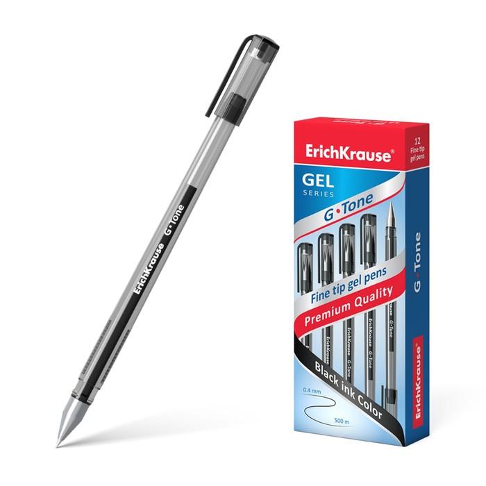 Ручка гелевая G-Tone, узел 0.5мм, чернила чёрные, длина линии письма 500м