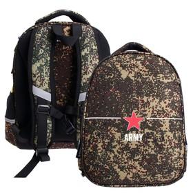 Рюкзак каркасный Bruno Visconti, 38 х 30 х 20 см + пенал, «Милитари. Army»