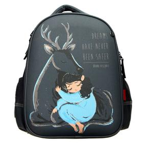 Рюкзак каркасный Bruno Visconti, 38 х 30 х 20 см «Forest Dream. Олень и девочка»