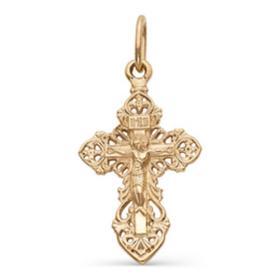 """Подвеска позолота """"Православный крест"""" 51-01097, цвет золото"""