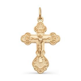 """Подвеска позолота """"Православный крест"""" 51-01096, цвет золото"""