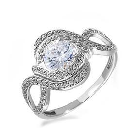 """Кольцо посеребрение """"Красота"""" 20-05757, цвет белый в серебре, размер 17"""