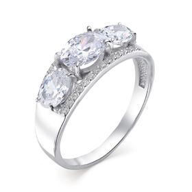 """Кольцо посеребрение """"Драгоценность"""" 20-05955, цвет белый в серебре, размер 17,5"""