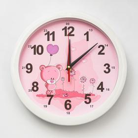 """Часы настенные """"Мишка с шариком"""", 28х28  см,"""