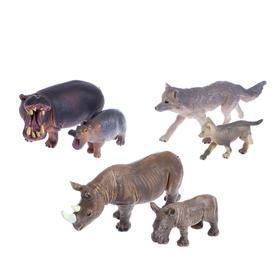 Набор диких животных «Дети и родители», 6 фигурок