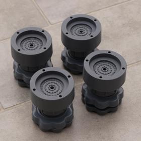 Подставки антивибрационные раздвижные, 4 шт, 6,5×8-10 см, d=4,7 см