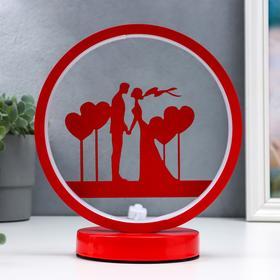 Светильник настольный 16473/1 LED красный 12х19,5х24см