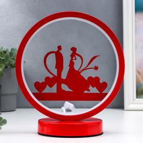 Светильник настольный 16476/1 LED красный 12х19,5х24см