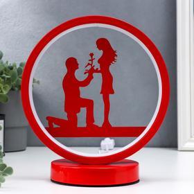 Светильник настольный 16478/1 LED красный 12х19,5х24см