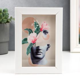 "Копилка интерьерная пластик ""Антик и нежные цветы"" 17х12х3,8 см"
