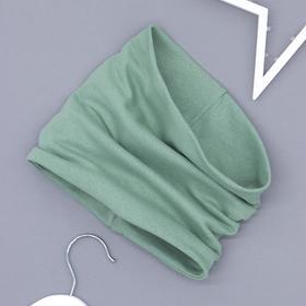 Снуд трикотажный, цвет серо-зелёный, 1,5-3 года (25-33)