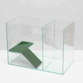 Аквариум-террариум с мостиком 30 литров, без крышки, 42 x 22,5 x 31 см