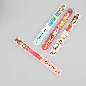 """Nail file-emery """"Flirty"""", abrasiveness, 240/240, 18cm, classic, pattern MIX"""